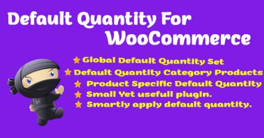 Default Product Quantity for WooCommerce Image